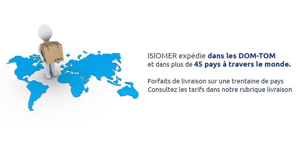 ISIOMER expédie dans les DOM-TOM et dans plus de 45 pays à travers le monde.