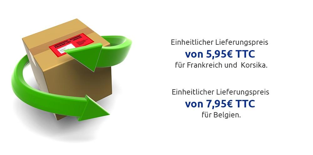 Einheitlicher Lieferungspreis für Frankreich und Belgien