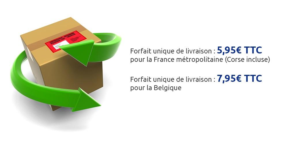 Forfait unique de livraison pour la France et la Belgique