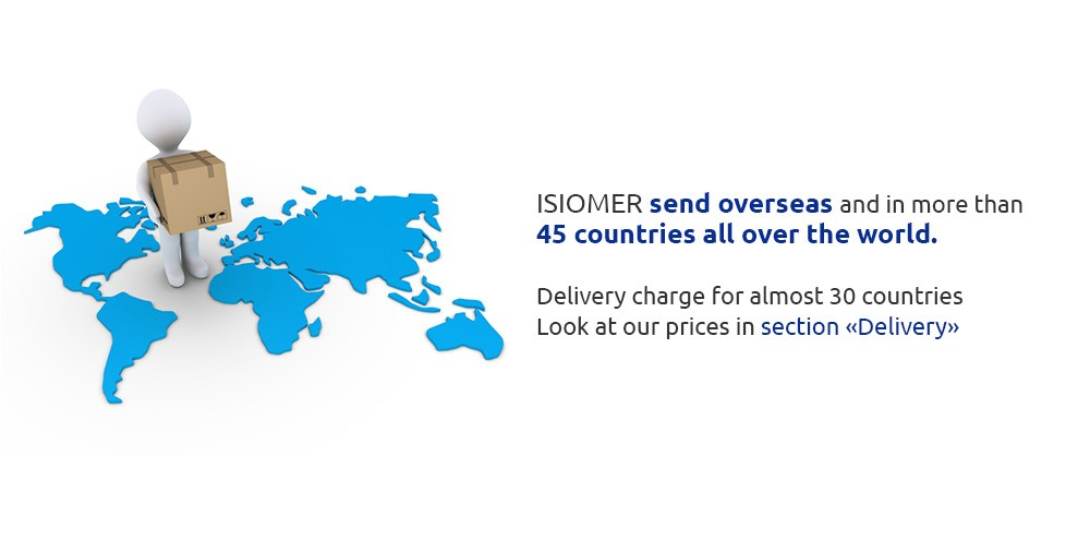 ISIOMER send overseas and in more than 45 countries all over the world