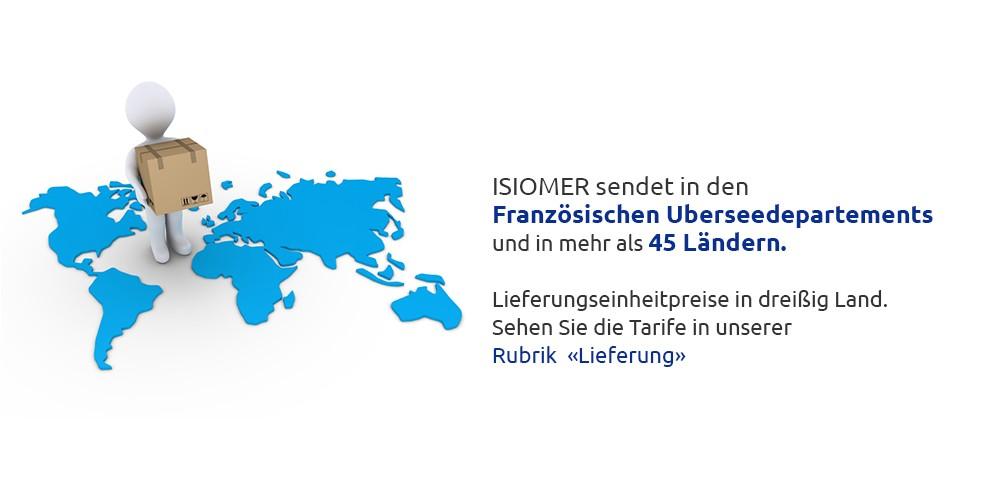 ISIOMER sendet in den FRANZÖSISCHEN ÜBERSEEDEPARTEMENTS und in mehr als 45 Ländern.